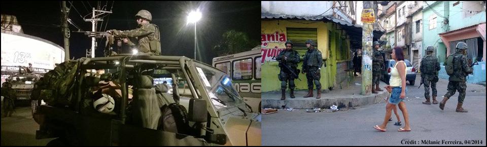Illustration 2 avril 2014, armée au complexe de favelas de Marê